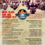 Bikes Blues and BBQ Schedule of Events